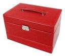 Kuferek na biżuterię czerwony szkatułka glamour Wysokość 20 cm