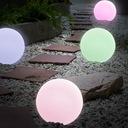 LAMPA KULA OGRODOWA LED SOLARNA RGB 30cm PILOT Kształt oprawy okrągły