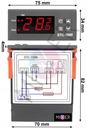 Regulator temperatury sterownik 230V z sondą LED Typ pieca dwufunkcyjny dwufunkcyjny z zasobnikiem cwu jednofunkcyjny