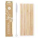 Słomki bambusowe rurki ekologiczne do picia 10szt