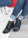 Granatowe botki zdobione Shoe Size 40 Kolor Granat Oryginalne opakowanie producenta pudełko