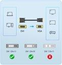 KABEL ADAPTER DVI DO VGA D-SUB DVI-D 24+1 Długość kabla 1.5 m