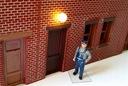 H0 - Lampa ścienna kula LED 1:87 MODEL w skali