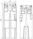 Spodnie robocze męskie XXL granatowy RANGER ADLER EAN 8591729209819