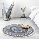 Okrągły dywan w etniczne wzory z frędzlami 90 cm EAN 0735279624403
