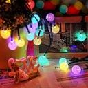 Girlanda solarna LED lampki ogrodowe kulki solarne Średnica kuli 2 cm