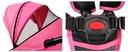 Wózek spacerowy NEVADA Summer Baby kolor różowy Składanie na płasko