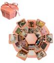 Pudełko niespodzianka wydruk zdjęcia DIY prezent