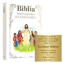 BIBLIA NA KOMUNIĘ CHRZEST GRAWER ŚWIĘTA HISTORIA