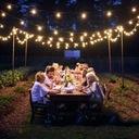 Girlandy Lampki Solarna żarówką Ogrodowa 10 LED Waga (z opakowaniem) 530 kg