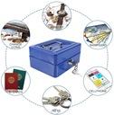 Metalowa kasetka na banknoty, bilon sejf na klucz Przeznaczenie na pieniądze