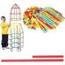 KLOCKI SŁOMKI PATYCZKI RURKI KONSTRUKCYJNE 400 SZT Wysokość produktu 30 cm