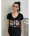 Koszulka damska WSZYSCY RÓWNI roz. M koń czarna