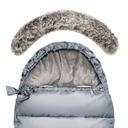 Śpiworek do wózka na sanki TiniMini REGULOWANY Cechy dodatkowe otwory na pasy bezpieczeństwa pokrowiec w zestawie