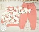 PIŻAMA piżamka dziewczynka DŁUGI RĘKAW róże 98 EAN 5902670095735