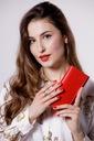 Skórzany portfel damski duży BETLEWSKI RFID Kod producenta BPD-DZ-12 czerwony