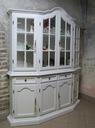 Malowana Witryna prowansja w bieli shabby chic Szerokość mebla 172 cm