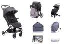Lekki wózek spacerowy Twizzy do 22kg dark grey Waga wózka 6.5 kg