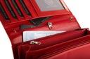 Skórzany portfel damski duży BETLEWSKI RFID Kolor czerwony