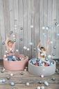 Suchy basen okrągły 90x30 szary + 150 piłeczek Płeć Chłopcy Dziewczynki