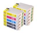 10x TUSZE DO EPSON Stylus SX215 SX218 D78 DX7450 Kolor zestaw żółty (yellow) czarny (black) niebieski (cyan) czerwony (magenta)