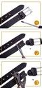 Skórzany pasek męski szeroki BETLEWSKI rozmiar 110 Kolor okuć srebrny