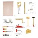 Walizka drewniana skrzynka + narzędzia dla dzieci Seria Skrzynka