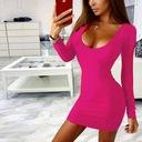 Sukienka mini piękny dekolt długi rękaw XS/S Zapięcie brak