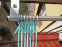 Suszarka na pranie balkon | KOMPLET DŁUGICH ŚRUB Głębokość 60 cm