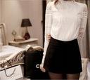 Elegancka biała bluzka koszulowa koronka haft XXXL Marka inna