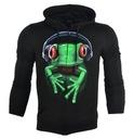 Bluza świecąca w ciemności czarna żaba r.L