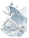 LINKA CIĘGNO OTWIERANIA MASKI PRZÓD AUDI A4 B6 OE Jakość części (zgodnie z GVO) O - oryginał z logo producenta samochodu (OE)