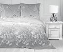 Pościel 100% bawełniana 200x220 Bielbaw Oliwia Kolor biały odcienie szarości