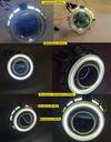 Soczewki BI-LED 33W Dual Ring Osłona DRL Dzienne ! Rodzaj świateł mijania LED
