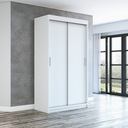 Szafa przesuwna garderoba biała + półki pax120 Kolor mebla dąb sonoma