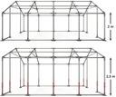 4x6m Namiot ogrodowy wzmocnienie dachu trudnopalny Producent Das Company