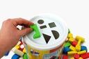 Zabawki dla dzieci Kolorowe klocki 100szt + sorter Wiek dziecka 2 lata +