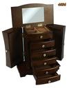 Szkatułka komoda kuferek na biżuterię brązowa 29cm Szerokość 27 cm