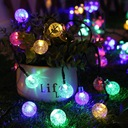 Girlanda solarna LED lampki ogrodowe kulki solarne Barwa światła mieszana