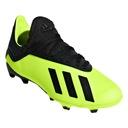 Buty piłkarskie adidas X 18.3 Fg Jr r.35 Kolor dominujący zielony