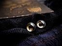 Małe kolczyki sztyfty kozie oczy, ręcznie malowane Materiał Stal Szkło