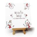 """Kartka bożonarodzeniowa """"Snowmen"""""""