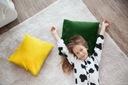 Poduszka dekoracyjna jasiek miękka 40x40cm zielona Długość 40 cm