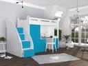 Łóżko piętrowe ZUZIA PLUS materace schodki biurko Liczba miejsc do spania 1