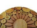 DREWNIANA PODKŁADKA PODSTAWKA POD GARNEK ŚWIECE OK Materiał wykonania drewno