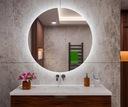 Lustro łazienkowe podświetlane LED 40cm Przeznaczenie Do kuchni Do łazienki Do pokoju Do przedpokoju Do sklepu Do studia