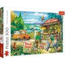 2x Puzzle 500el Mona Lisa i Kot + Angielski na wsi Okładka inna