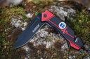 Nóż ratowniczy - bezpieczeństwa 6w1 czarny Materiał głowni stal