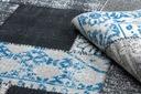 DYWAN VINTAGE 133x190 PATCHWORK niebieski #B852 Szerokość 133 cm