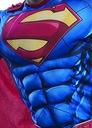 SUPERMAN KOSTIUM Z MIĘŚNIAMI STRÓJ 8-10 L LICENCJA Rozmiar 146
